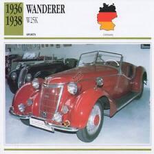 1936-1938 WANDERER W25K Sports Classic Car Photo/Info Maxi Card