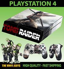 PS4 Skin Tomb Raider Lara Croft Definitive Edition Sticker + Pad decal Vinyl LAY