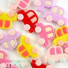 10 pcs Mixed Cars Cabochon Flatback Horse Hair Bow Center Craft Embellish