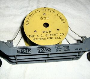 American Flyer No.936 Erie 7210 Depressed Center 12-Wheel Flat Car,Cable Reel