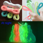 Glow In The Dark Shoelace Luminous Flat Athletic Boots Shoe Laces Strings 120cm