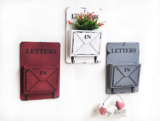 Wall Mounted Key Letter Holder Storage Hanger Shelf Hook Home Garden Decoration
