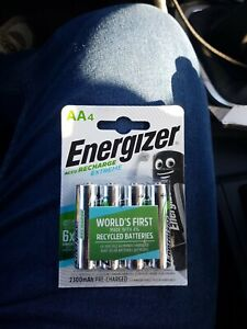 4 piles lr6 lr 6 AA energizer rechargeable recharge extreme x6 2300mah batterie