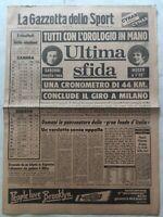 GAZZETTA DELLO SPORT 6-6-1979 GIRO D'ITALIA SARONNI MOSER RISULTATI ELEZIONI