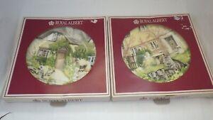 Royal Albert plates Cats cottages plates x 2 Decorative cat Plate cottage plate
