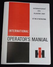 295 International Harvester McCormick Seed Planter Unit Owner Manual Farmall IH