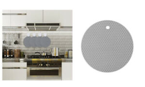 Trivet Silicone Round Mat Heat Proof Resistant Non Slip Pad Holders Pad