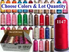 100 Crescent Rayon Viscose Machine Embroidery Thread Spool 2500m / 80g Each | UK