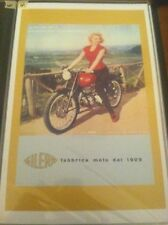 Vintage Gilera Motorcycle Art Poster Man Cave Garage Art Advertising