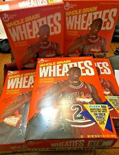 1991 Michael Jordan Chicago Bulls Wheaties Boxes  with Fleer Sheet #1,2,4,5,7