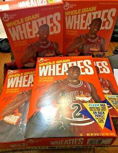 1991 Michael Jordan Chicago Bulls Wheaties Boxes  with Fleer Sheet #1,2,4,5,7