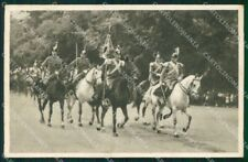 Militari Reggimentale Genova Cavalleria 1933 Lancieri PIEGHINA cartolina XF6823