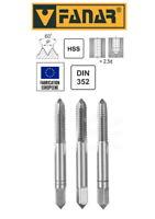 Jeu de 3 tarauds à main FANAR® HSS M2,5  DIN-352/3 pas à droite