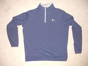 Notre Dame Fighting Irish Peter Millar 1/4 Zip Long Sleeve Pullover Large Perfec