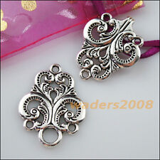 2 New Connectors Necklace Clouds Heart Flower Toggle Clasps Tibetan Silver
