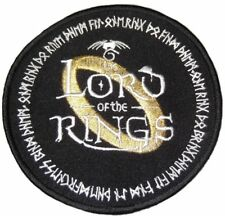 "Lord Of The Rings Ring Logo 4"" Diameter Embroidered Patch"