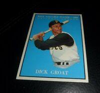 1961 TOPPS #486 DICK GROAT - MVP - PITTSBURGH PIRATES SHARP NR MINT & CENTERED