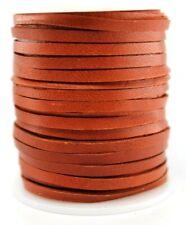 Deerskin Deer Leather Lace Spool Roll 1/8 3Mm 50 Ft Cord String Saddle Tan Brown