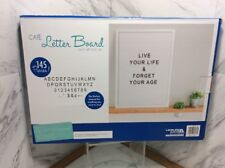 WHITE OPEN FACE PREMIUM LETTER BOARD - DURABLE WHITE PLASTIC 11x16 FRAME AND 145
