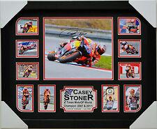 CASEY STONER 2007 & 2011 CHAMPION  MEMORABILIA SIGNED FRAMED