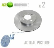 2 x BLUE PRINT FRONT BRAKE DISCS SET BRAKING DISCS PAIR OE REPLACEMENT ADH24329