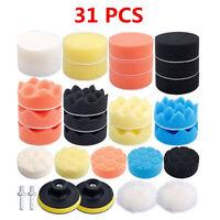 80mm/3In 31Pcs Buffing Sponge Polishing Buffer Pad Kit For Car Waxing Polisher