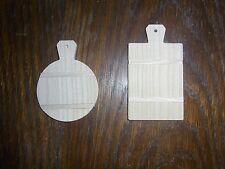 2 Kuchendeckel für Kaufläden etc Miniatur rund/eckig