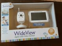 SUMMER WIDE VIEW DIGITAL COLOR VIDEO MONITOR NIGHT VISION CAMERA W/ AUDIO 600 FT