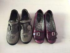 Bnwt Ramdam Girls Grey School Shoes And Free Buckle My Shoe Sz 3