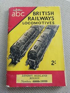 IAN ALLAN - ABC - BRITISH RAILWAY LOCOMOTIVES WINTER 1953 - 54