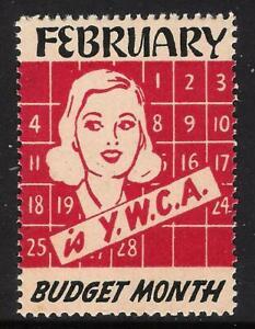 YMCA - February is Budget Month - Calendar