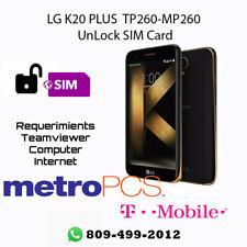 Unlock SIM CARD LG K20 PLUS  TP260 - MP260  T-MOBILE / METRO PCS