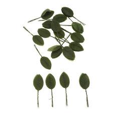200pcs Artificial Silk Rose Leaves Bouquets Wedding Flower Decor Dark Green