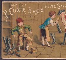 Brooklyn Ny 1800's Victorian Shoemake Riesterer Cox Shoe Boot Advertising Card