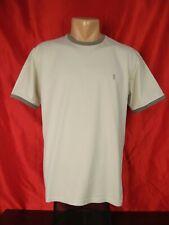 "Yves Saint Laurent Mens M Medium T-shirt Beige Tshirt Short Sleeves Solid 21"""