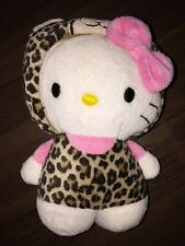 1 trozo-h&m Hello Kitty sustancia animal peluche blanco Leopard bucle traje rosa