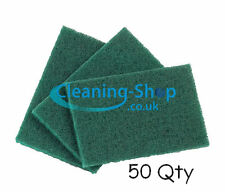 Scouring pads large heavy duty green kitchen catering cleaning x 50