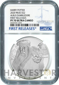 2020 HARRY POTTER - ALBUS DUMBLEDORE - 1 OZ. SILVER COIN NGC PF70 FIRST RELEASES