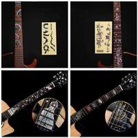 Inlay Decals Ultra Thin Stickers Zubehör für Gitarren Aufkleber für Fretboard