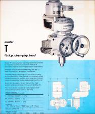 Bridgeport Milling Machine Model T Cherrying Head Attachment 4 Tool Die Mold Mak