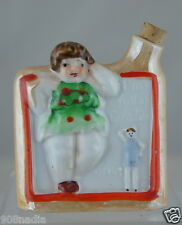 "VINTAGE MID CENTURY PERSONAL FLASK BOTTLE ""CANADIAN SPIRIT"" GIRL HUMOROUS"