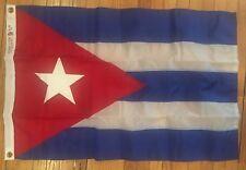 Vtg Dettra Duralite Double Stitched Nylon Bunting Flag w Grommets 2'x3' CUBA