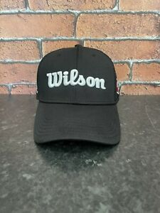 Wilson Staff WS Black Adjustable Golf Cap Snapx Excellent Condition