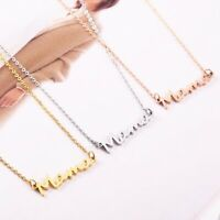 Fashion Stainless Steel Mama Pendant Necklace Jewelry Grandmother Mother's Day