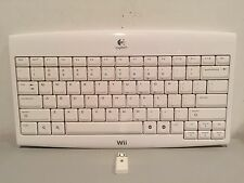 Logitech Wireless Keyboard w/Receiver - Works Great!  (Nintendo Wii & Wii U)
