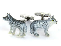 WOLF Cufflinks Grey Werewolf Mens Birthdays Fathers Day Cuff links Animal