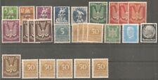 Deutsches Reich vanaf 119 ongebruikt MH  c.w.  €  61,20