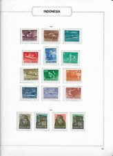 1964 MNH Indonesia selection according to  album page, postfris**