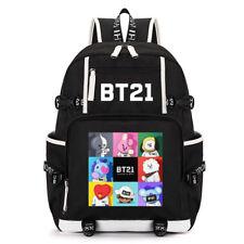 KPOP BTS Backpack BT21 Shooky Chimmy Koya Bangtan Boys Suga Bookbag Shoulder Bag