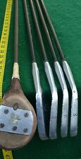 VINTAGE ANTIQUE GOLF CLUBS WOODS PUTTERS IRONS WRIGHT & DITSON BEELINE BRENTWOOD